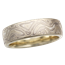 Winter Mokume Wedding Band in Green Gold, 6mm