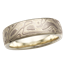 Winter Mokume Wedding Band in Green Gold, 5.5mm