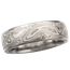White Mokume Wedding Band, 6mm