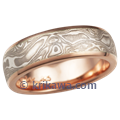 Rose Gold Mokume Wedding Band