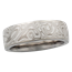6mm White Mokume Wedding Band, Light Etch