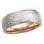White Mokume & Rose Gold Wedding Band