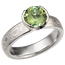 Mokume Solitaire Straight Tapered Engagement Ring with Tourmaline