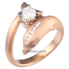 Rose Gold Dolphin Engagement Ring