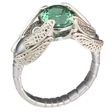 Tourmaline Dragonfly Engagement Ring