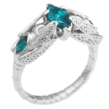 Emerald Dragonfly Engagement Ring