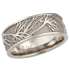 White Gold Tree of Life Wedding Band