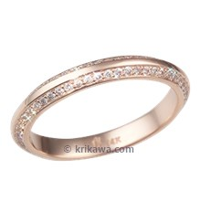 Rose Gold Juicy Double Diamond Wedding Band