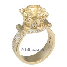 Yellow Gold High Tea Cocktail Ring