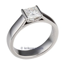 Platinum Modern Cathedral Engagement Ring
