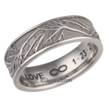 Cobalt Chrome Tree of Life Wedding Band