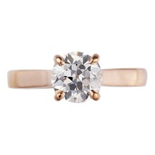 Rose Gold Round Cut Solitaire - top view