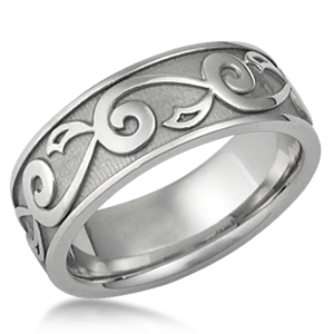Vine Amp Leaf Eternity Wedding Ring
