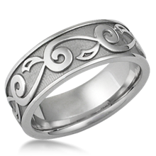 Vine & Leaf Eternity Wedding Band