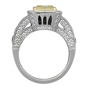 Brilliant Cathedral Pave Engagement Ring