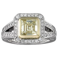 Brilliant Cathedral Pave Engagement Ring - top view