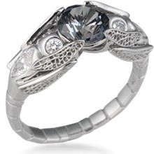 Dragonfly Engagement Ring