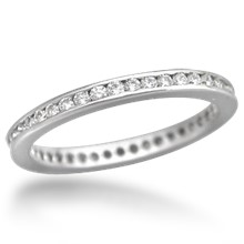 Diamond Channel Brilliant Eternity Wedding Band