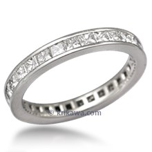 Diamond Channel Princess Eternity Wedding Band