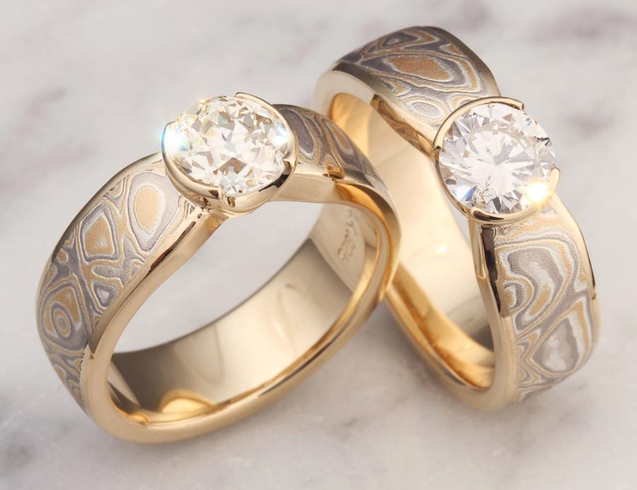Gold lesbian rings