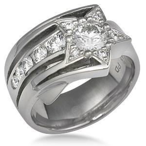 Shooting Star Engagement Ring