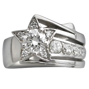 Shooting Star Engagement Ring