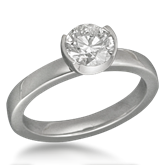 Crescent Engagement Ring