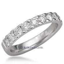 Short Pave Wedding Band