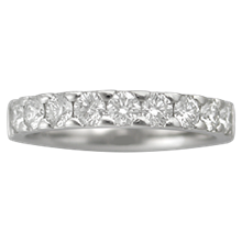 Short Pave Wedding Band - top view