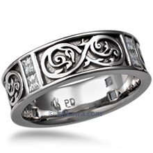 Renaissance Infinity Wedding Band with Diamonds