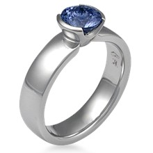 Modern Straight, Tapered Head Engagement Ring