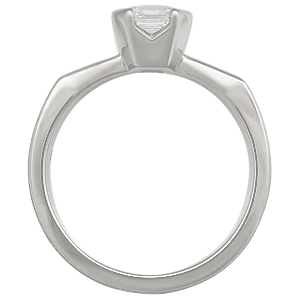 Mokume Solitaire Engagement Ring