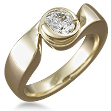 Modern Swirl Engagement Ring