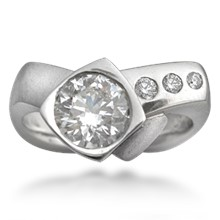 Modern Crossover Engagement Ring
