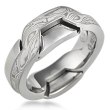 mokume puzzle ring - Interlocking Wedding Rings