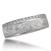 Unique Mokume Wedding Ring