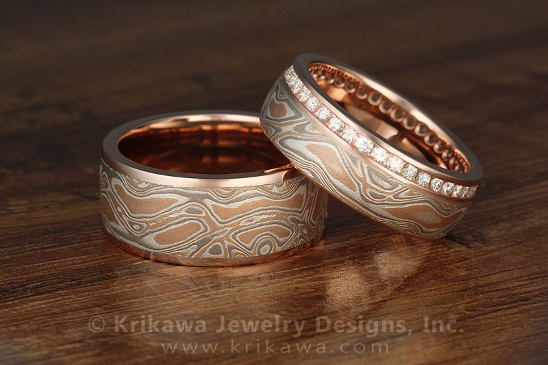 mokume ring gane zoom axii rings wedding band listing fullxfull il