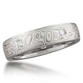 Designer Mokume Gane Wedding Ring