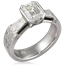 Mokume Diamond Accent Engagement Ring