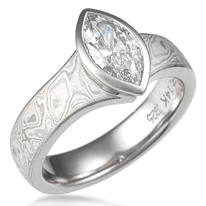 Marquise Diamond in Engagement Ring