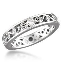 millegrain curls - Vintage Wedding Rings For Women
