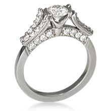 Paved with Diamonds Engagement Ring