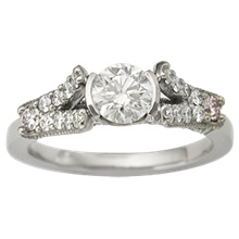 Paved with Diamonds Engagement Ring - top view