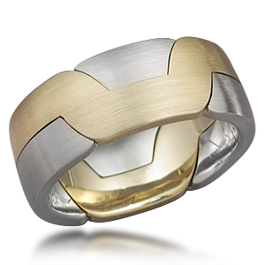 Modern Puzzle Wedding Ring