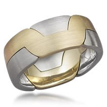 modern puzzle unusual custom puzzle and interlocking wedding bands - Interlocking Wedding Rings
