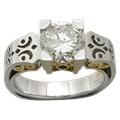 Platinum Scrollwork Engagement Ring