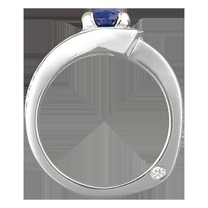 Unusual Mokume Engagement Ring
