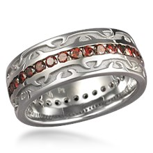 Tribal Thorn Wedding Band