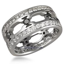 Tribal Double Diamond Thorn Wedding Ring