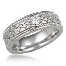 Ropes and Tires Wedding Band